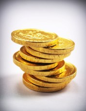 a stack of gold coins