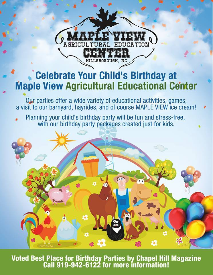 now booking birthday parties