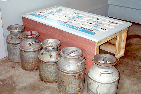 Milk-house-table-&-cans