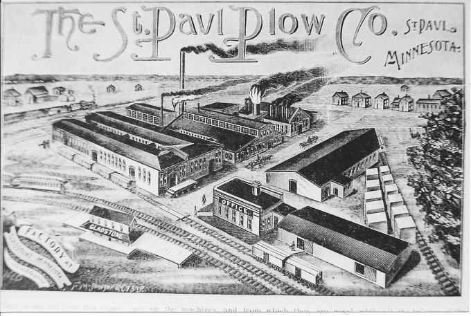 The St. Paul Plow Works factory in Gladstone in 1895