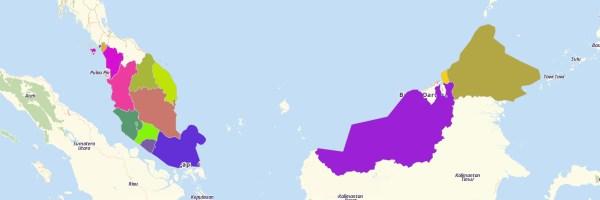 Malaysian States Map