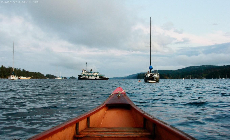 Chestnut Canoe, Ganges Harbour, Saltspring Island, BC, Canada