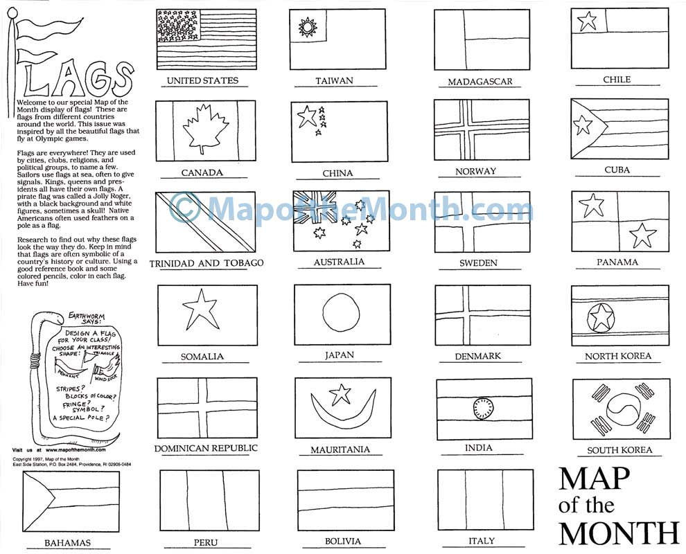medium resolution of Flags of the World Map - Maps for the Classroom