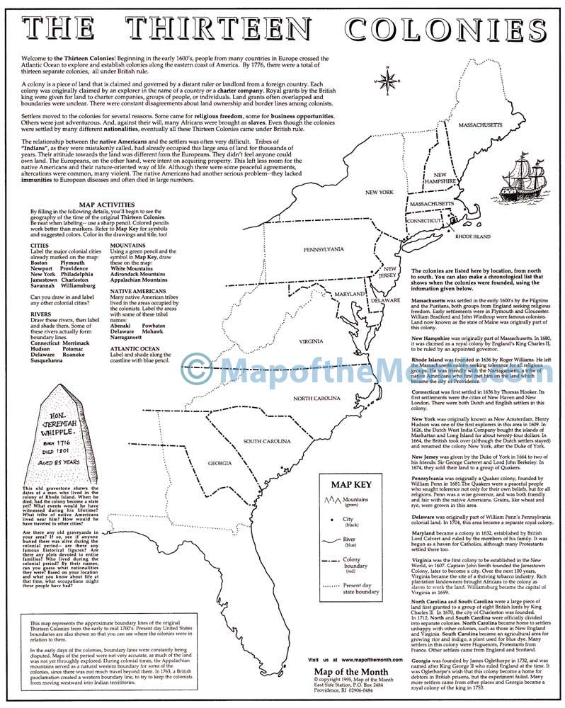 hight resolution of 32 Label 13 Colonies Map - Labels Database 2020