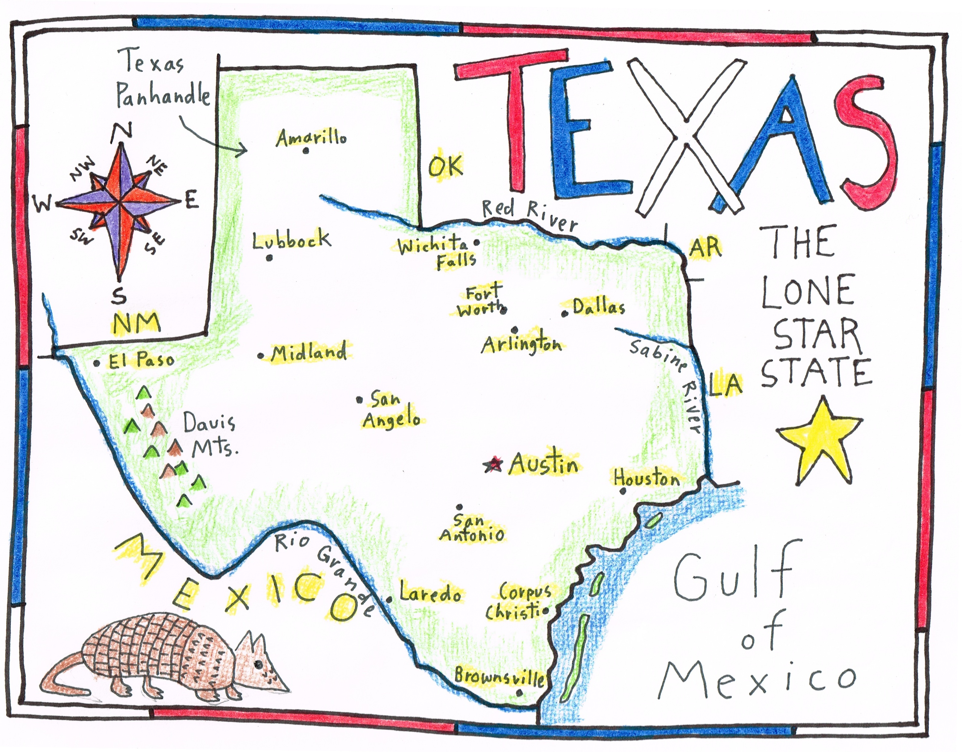 More Fun With A Sketch Map Of Texas