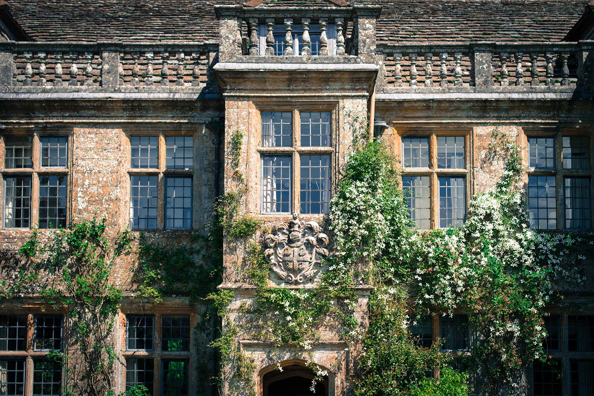 The front of Mapperton House - Dorset country house wedding venue