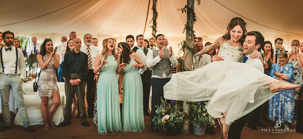 First dance in the marquee - photo by Paul Underhill Photography