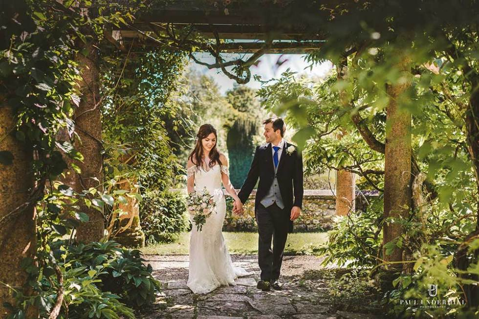 The Gardens at Mapperton, Dorset Wedding Venue. Photograph by Paul Underhill Photography
