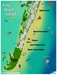 Map Of Lbi Nj : Beach, Island, Jersey, Mappery