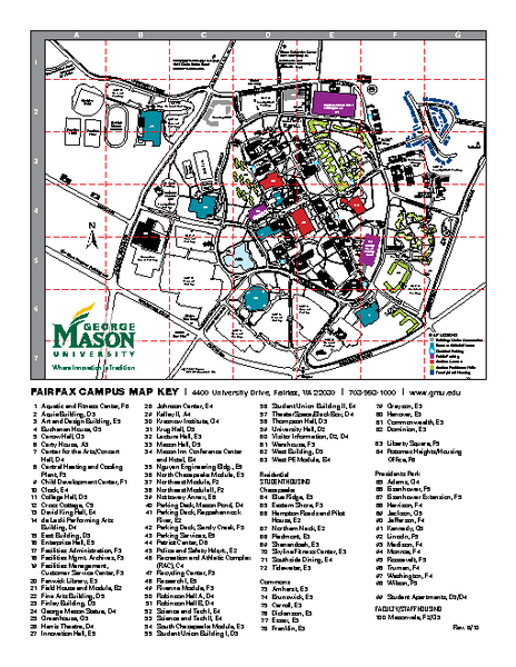 George Mason Campus Map : george, mason, campus, Collection, Mappery