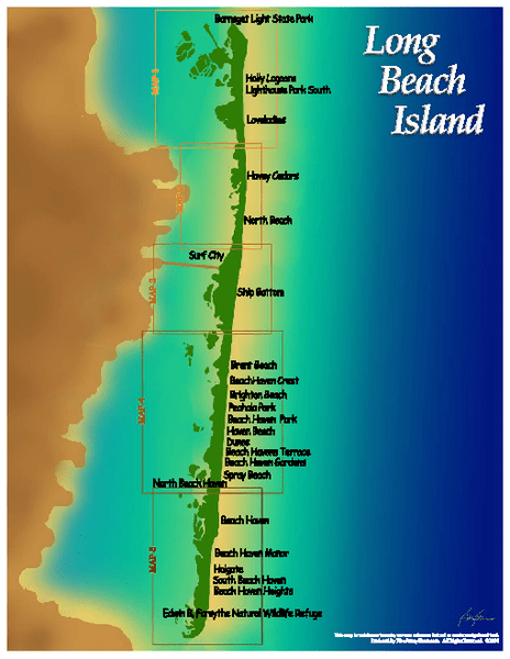 Map Of Long Beach Island Nj : beach, island, Beach, Island, Jersey, Mappery