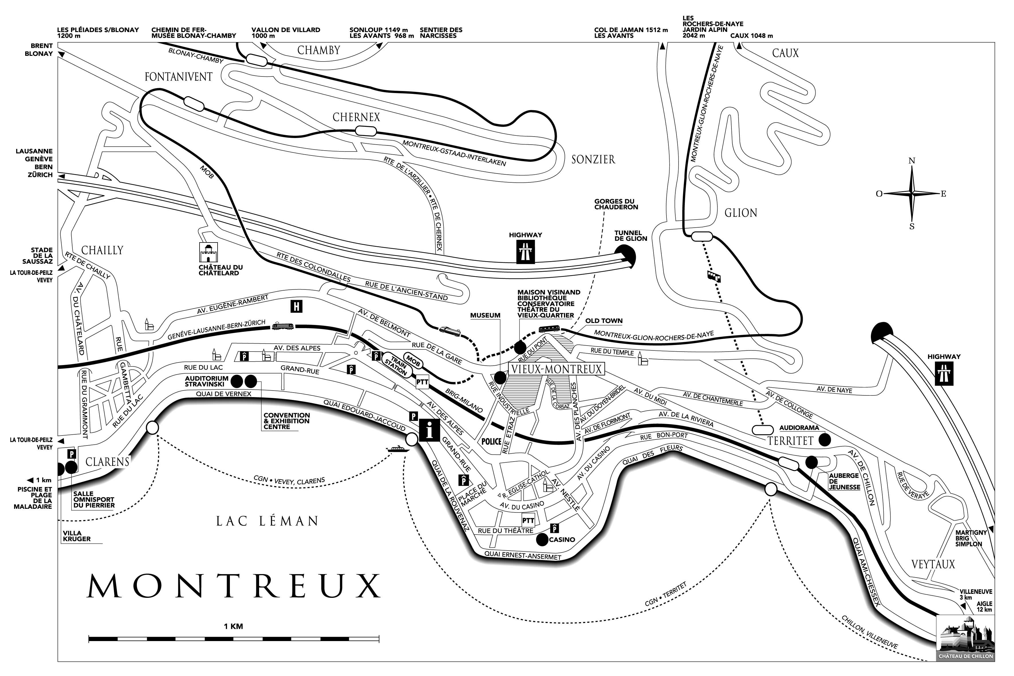 Montreux City Map
