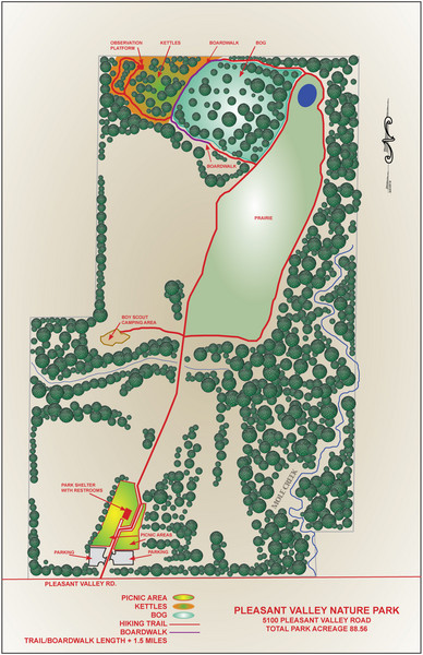 Pleasent Valley Map : pleasent, valley, Pleasant, Valley, Nature, Cedarburg, Wisconsin, Mappery