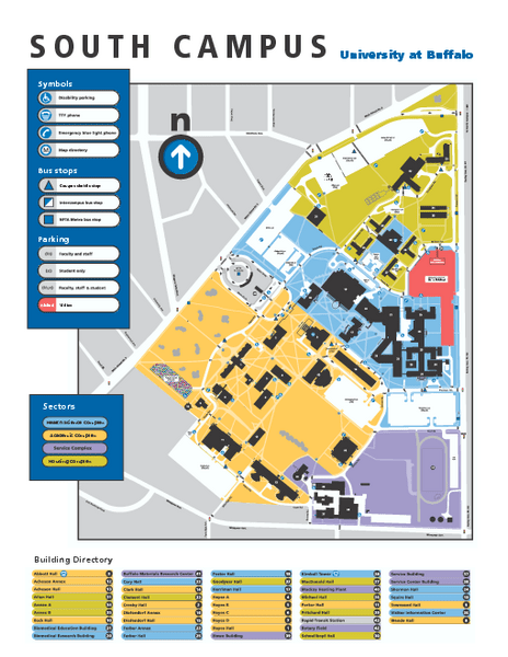 Ub South Campus Map : south, campus, Buffalo, South, Campus, Mappery