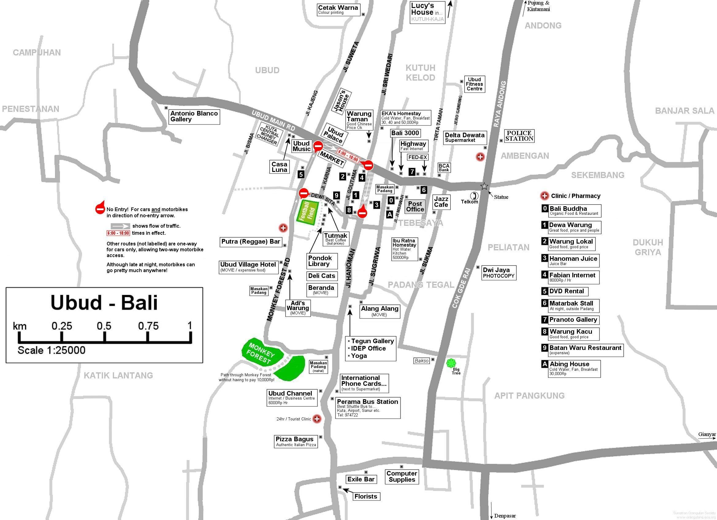 Bali Weather Forecast and Bali Map Info: Detail Ubud Bali