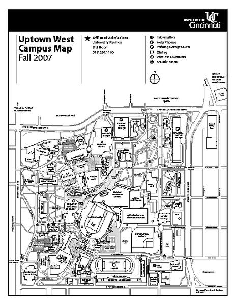 University Of Cincinnati Map : university, cincinnati, University, Cincinnati, Campus, Mappery