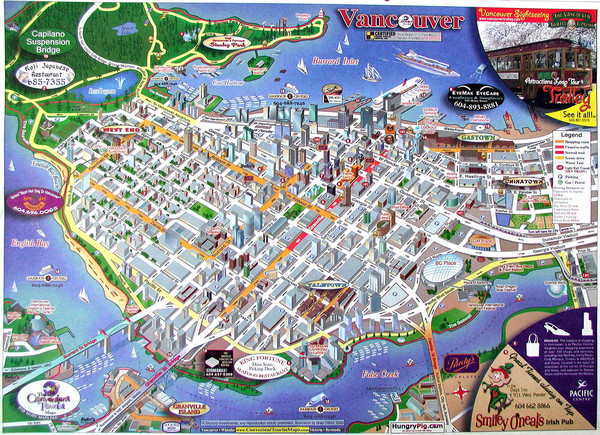 Vancouver Downtown Map