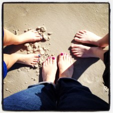 Gotta get our toes in the sand.