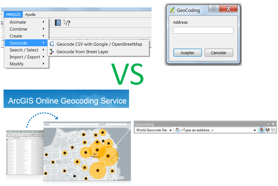 Elegir QGIS por su Geocodificación