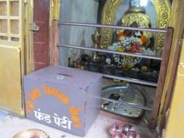 The Ganesh Idol guarding the 'fund peti'