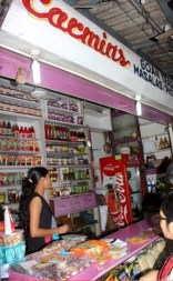 The shop selling the liqueur chocolates.