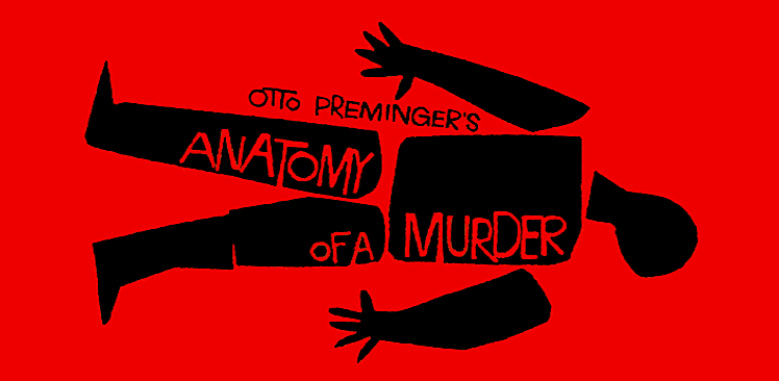 "Saul Bass movie poster pour Otto Preminger film""Anatomy of a Murder"""