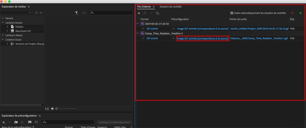 Media Encoder_Exportation_After Effects