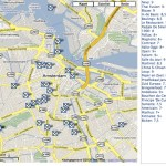 Parool Amsterdam restaurant reviews on a map