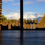View of Andes from Hotel Aguamiel in Mendoza, Argentina