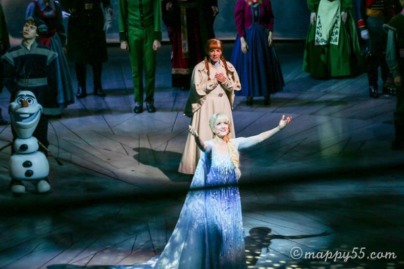 カリフォルニアアドベンチャーのアナと雪の女王のミュージカル