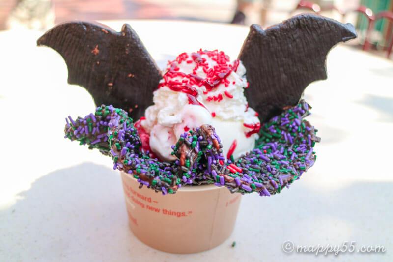 カリフォルニアのアナハイムディズニーにあるバットアイスクリーム