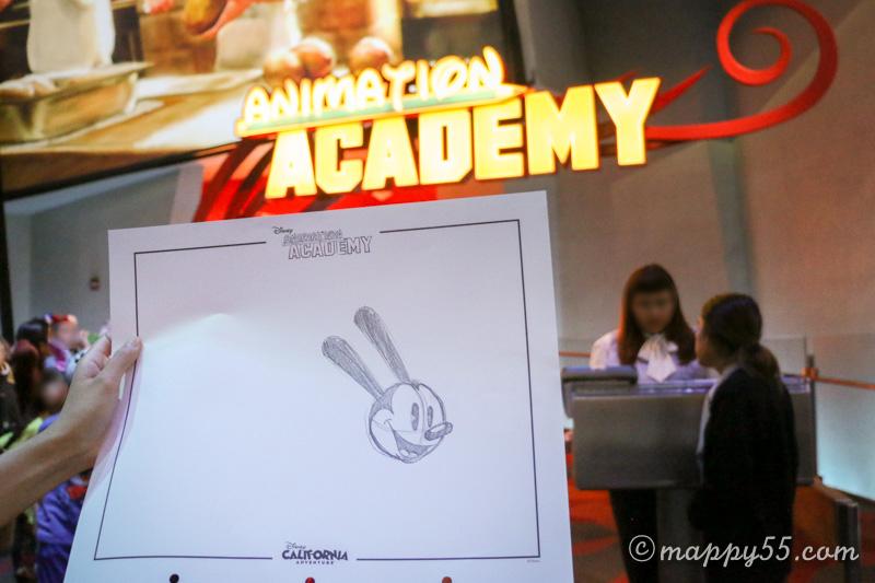 カリフォルニアアドベンチャーのイラスト講座があるアニメーションアカデミー