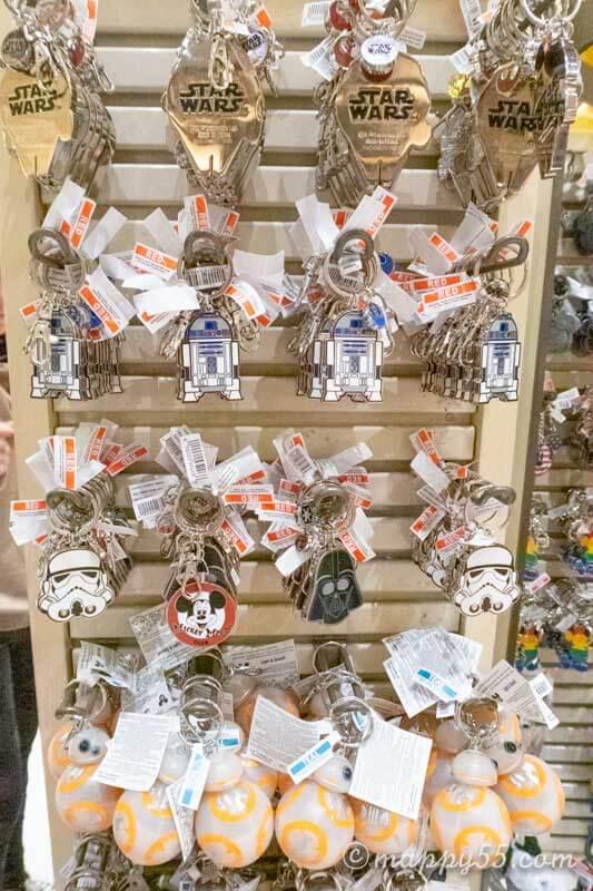 カリフォルニアにあるアナハイムディズニーで買えるキーホルダー