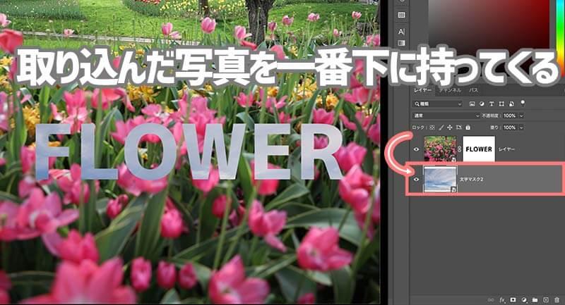 Photoshopの文字マスクツールの使い方