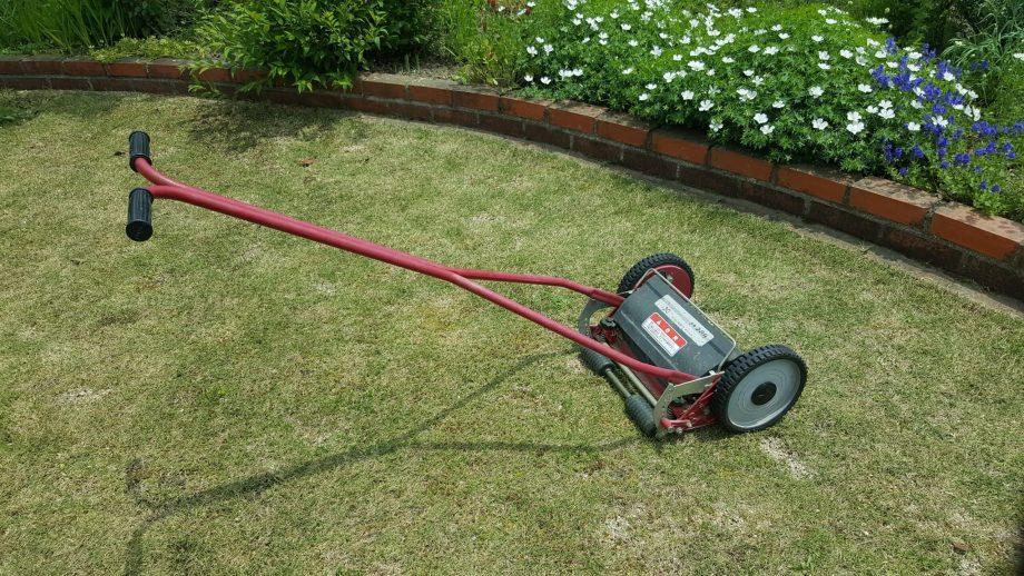 芝生の軸刈りをしない方法