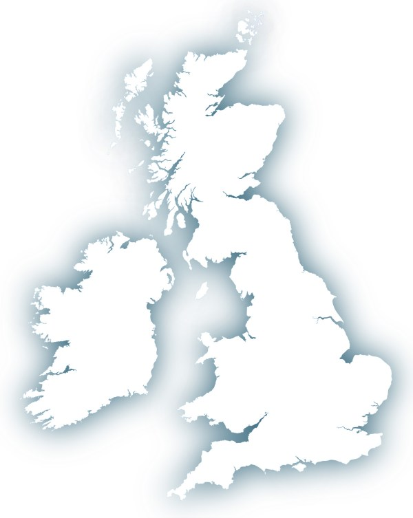Outline map of Britain royalty free editable vector map