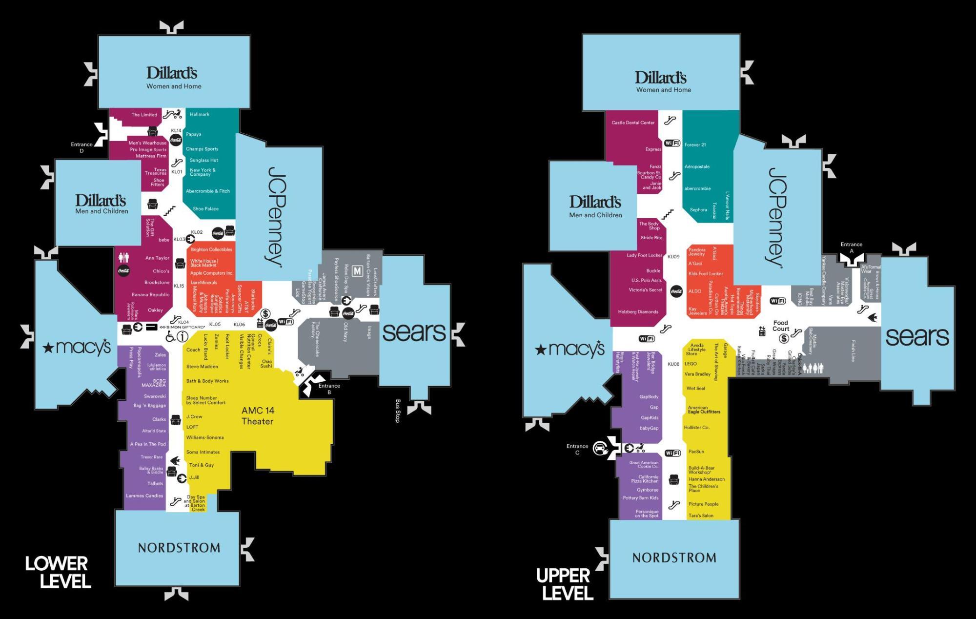hight resolution of map of barton creek mall