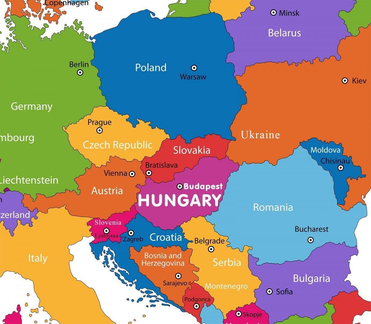 Austria On World Map