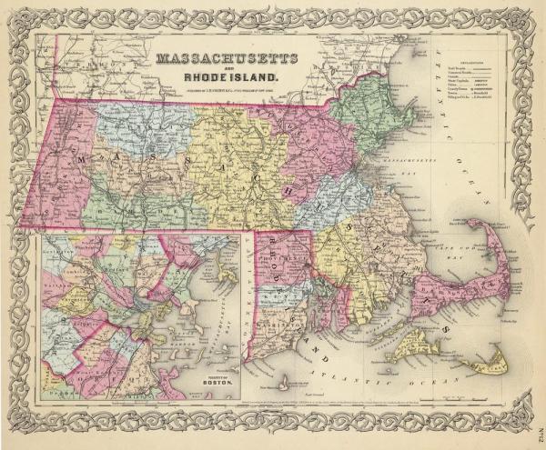 Map of Boston ma Boston mass map United States of America