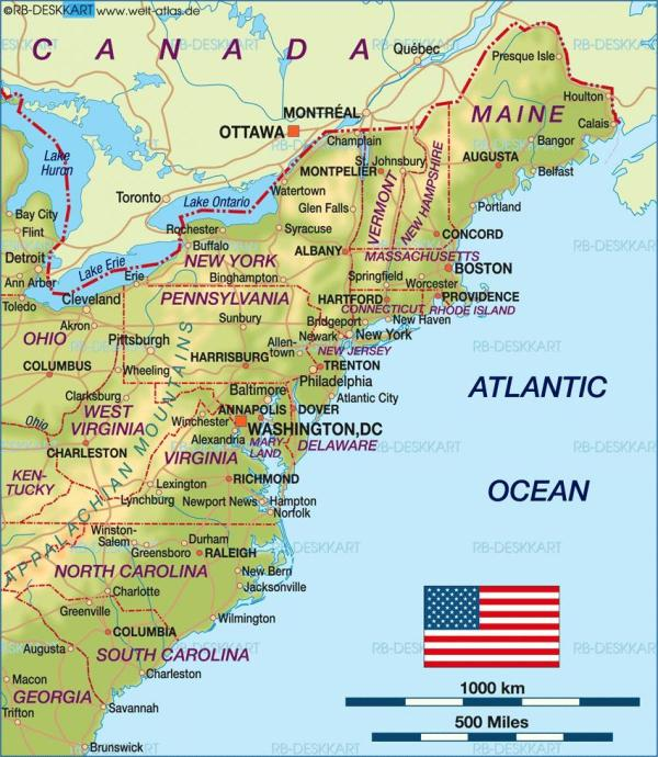 Boston usa map Boston on us map United States of America