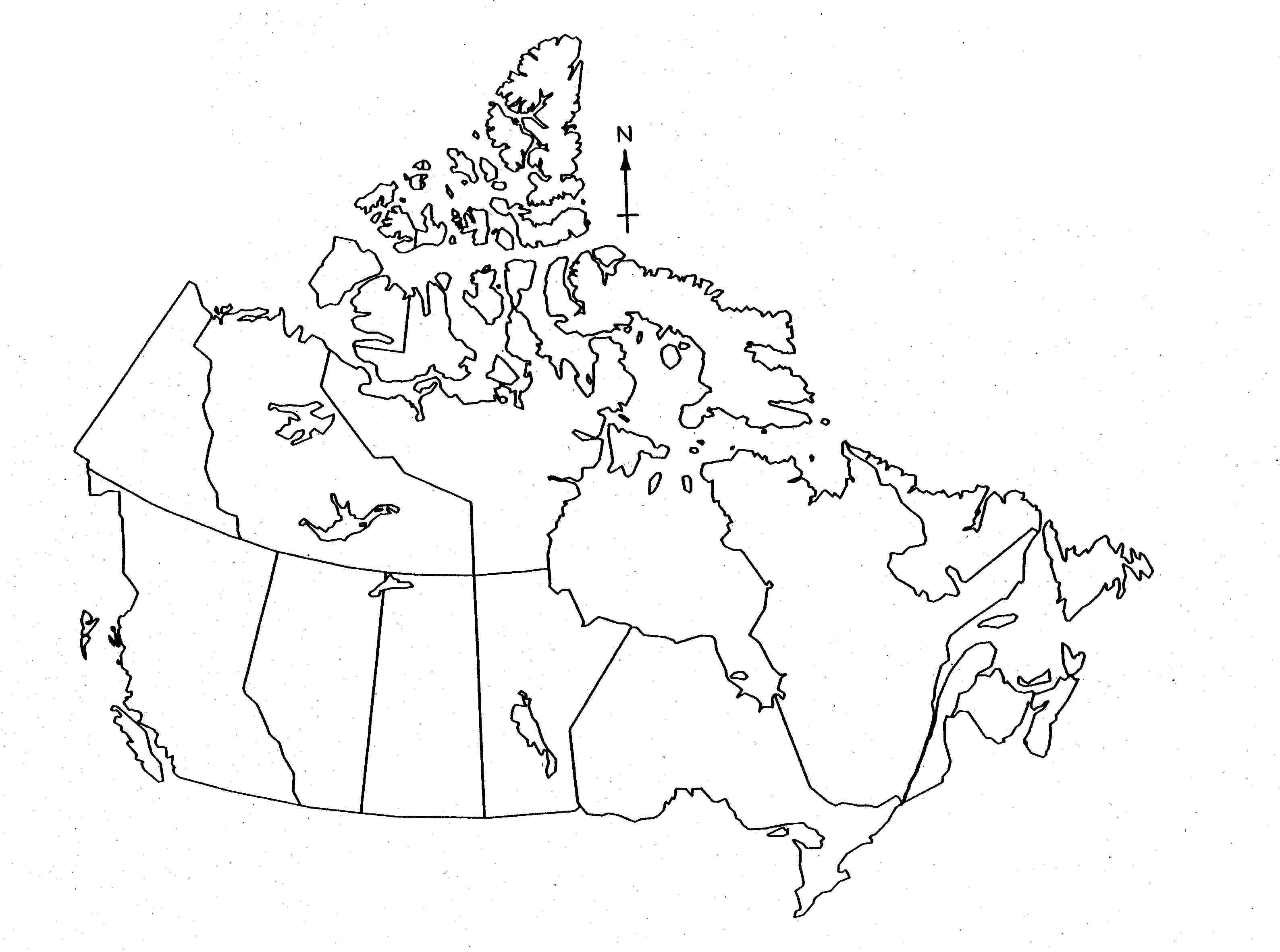 Canada Map Blank Worksheet