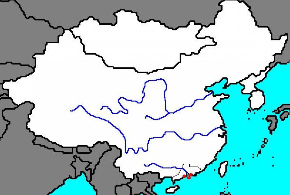 Ancient China Blank Map