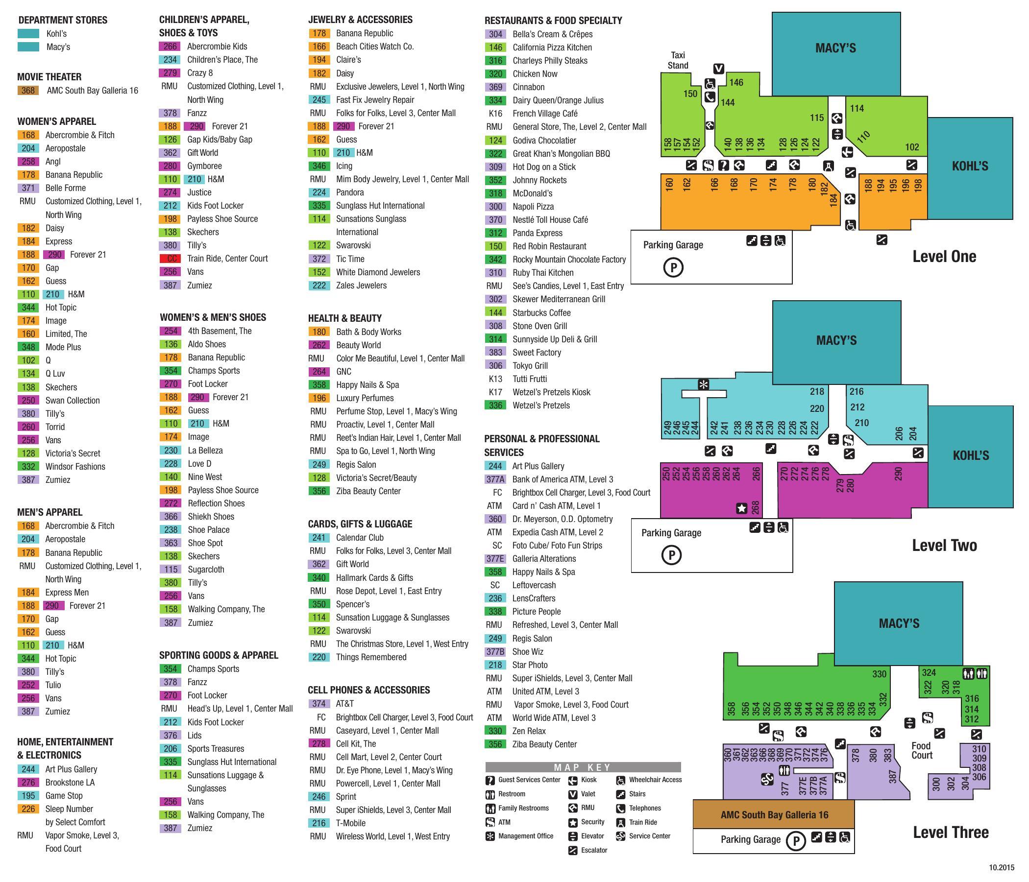 Galleria Mall Houston: Sawgrass Mills Mall Directory Map