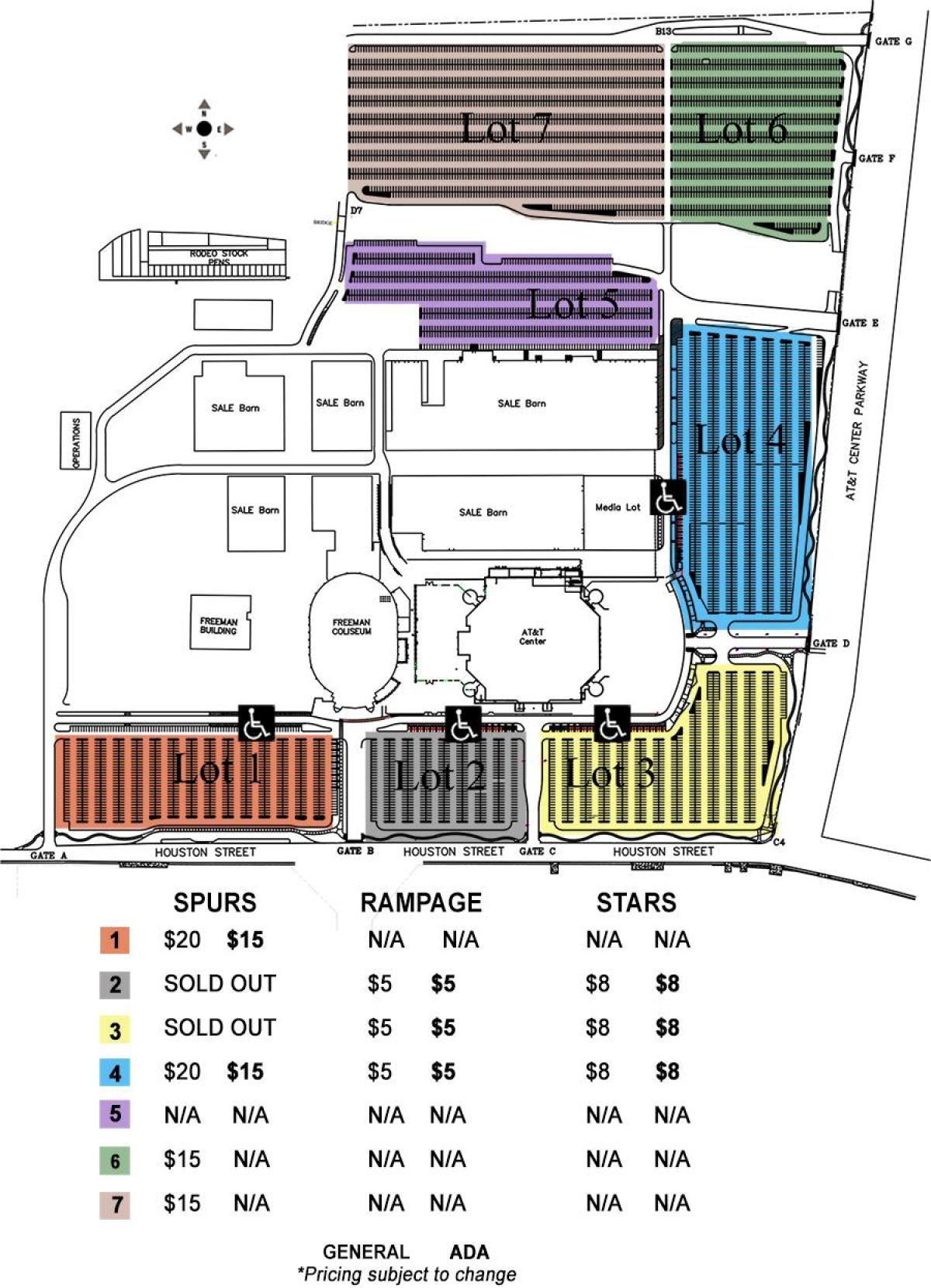 Att Parking Map : parking, Stadium, Parking, (Texas