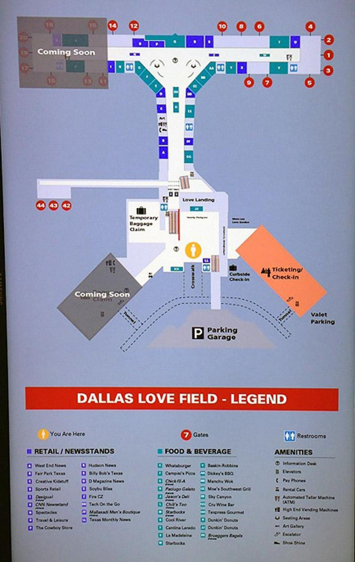Lovefield Airport Map : lovefield, airport, Dallas, Field, Airport, (Texas