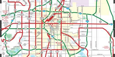 Denver Map Maps Denver Colorado Usa