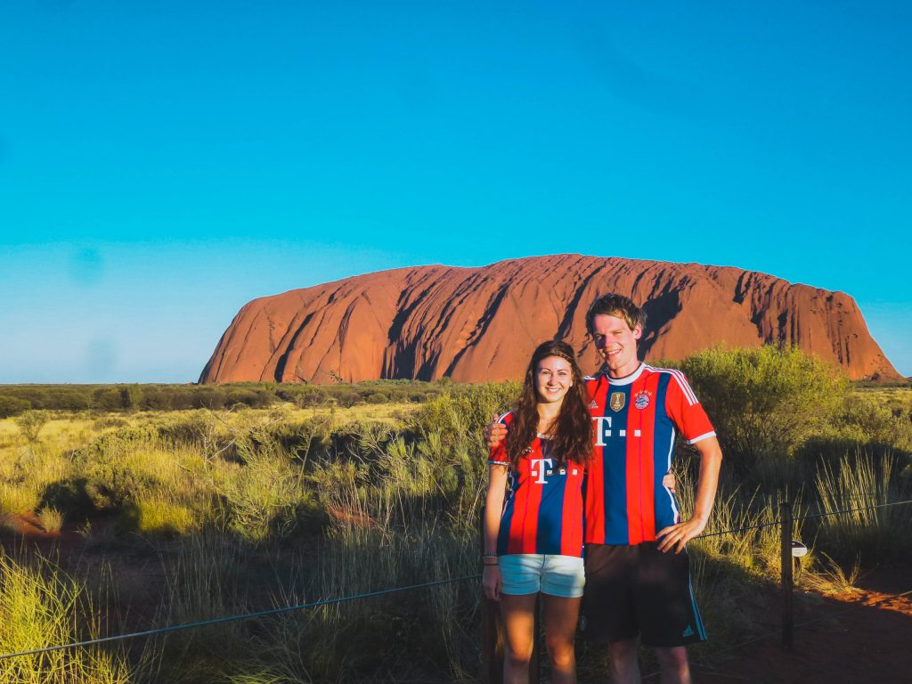 Uluru couple happy place