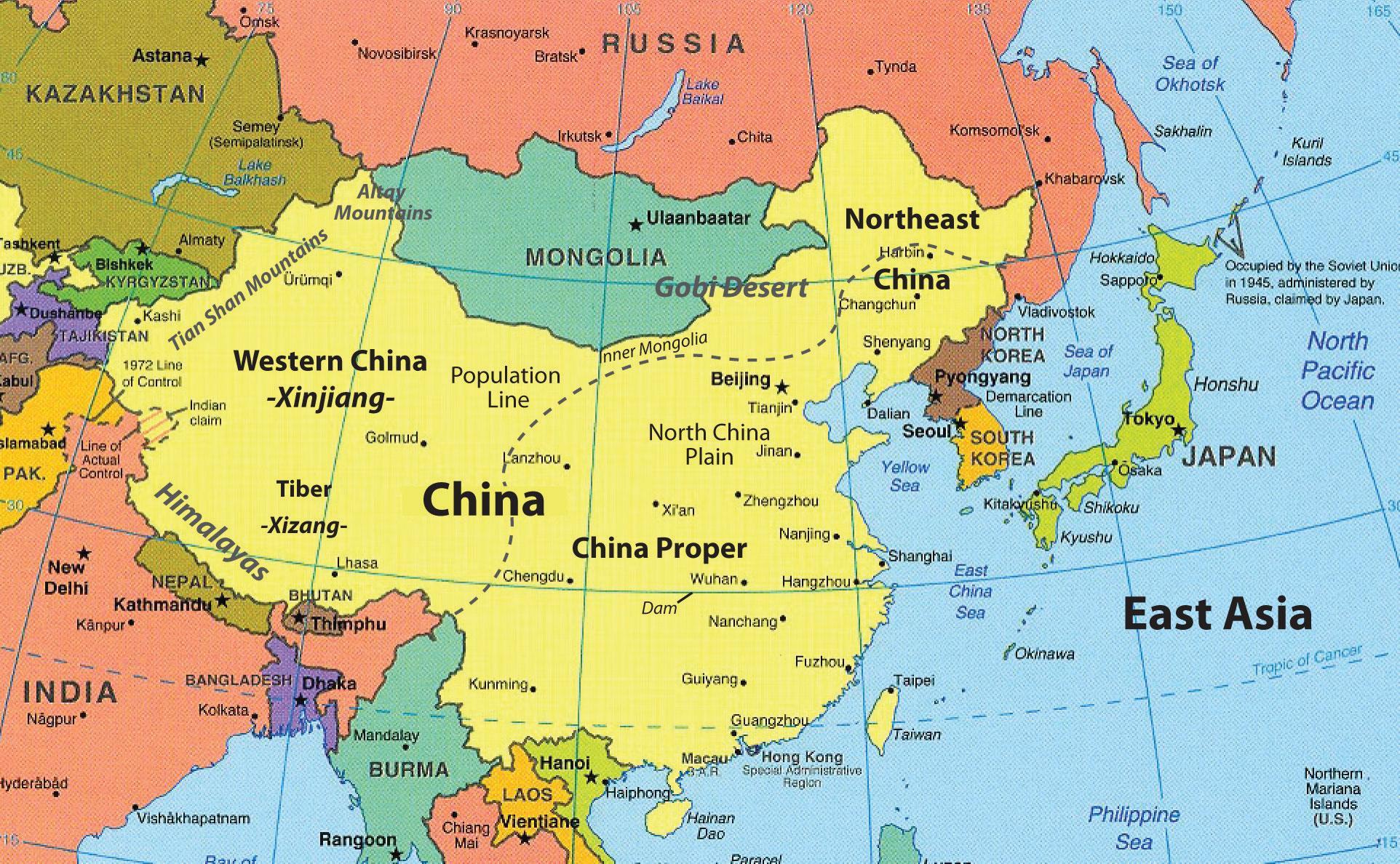 Map Of Hong Kong And Surrounding Countries