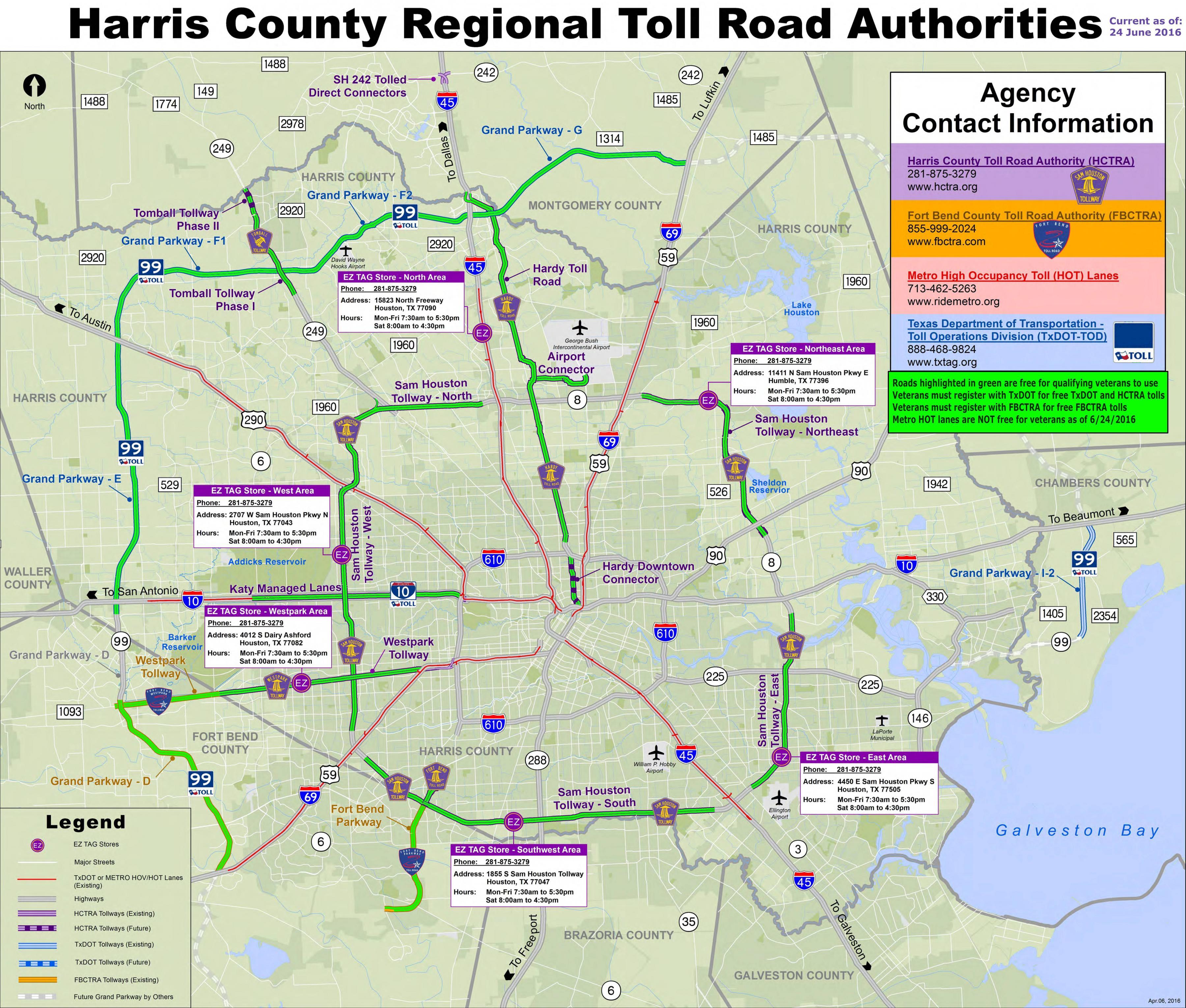 houston toll road map