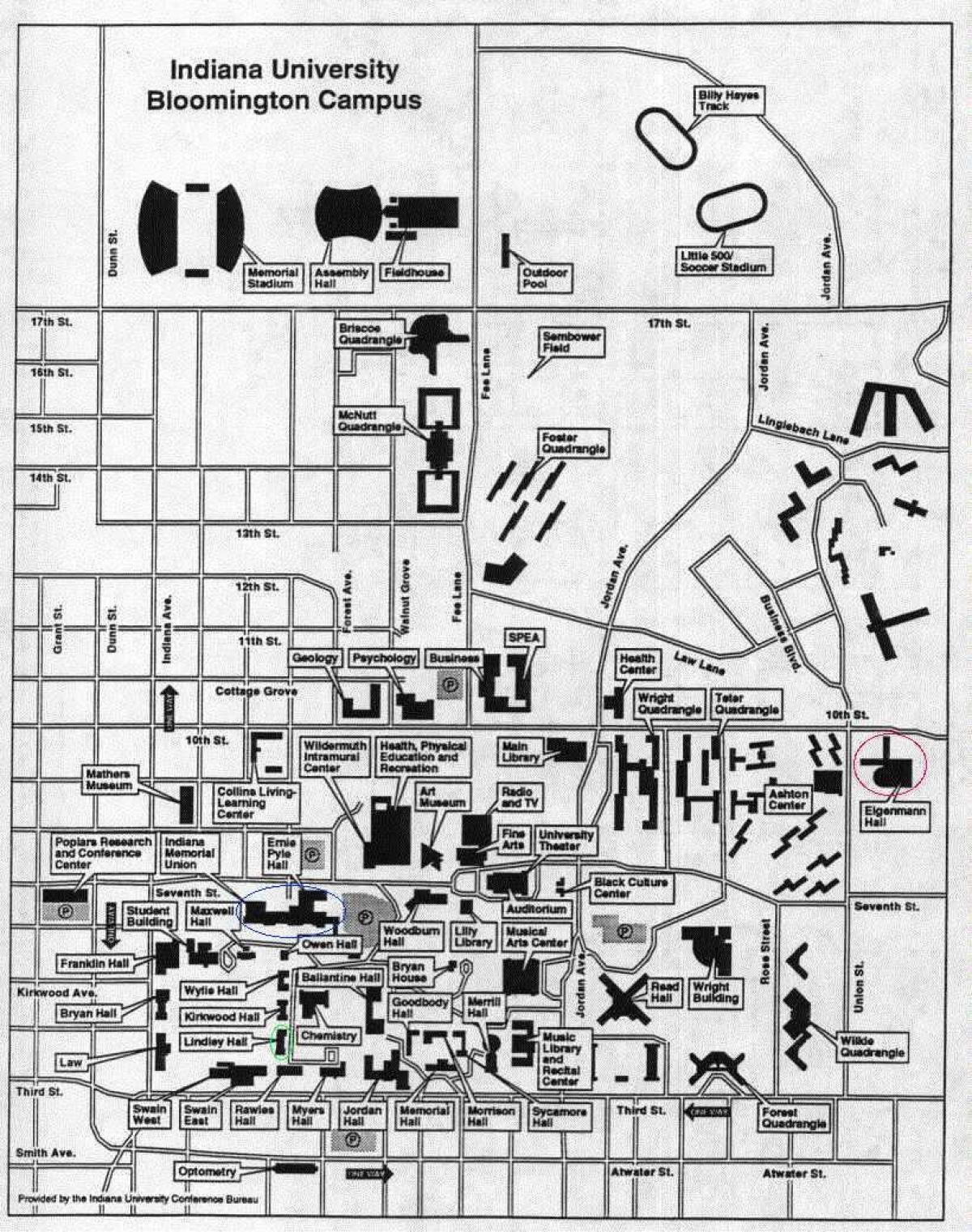 Indiana University Bloomington Map : indiana, university, bloomington, Indiana, University, Bloomington, Campus